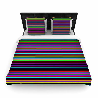 Trebam Kolor Stripes Woven Duvet Cover Size: Full/Queen