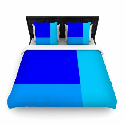 Trebam Bluz V.3 Geometric Woven Duvet Cover Size: Full/Queen