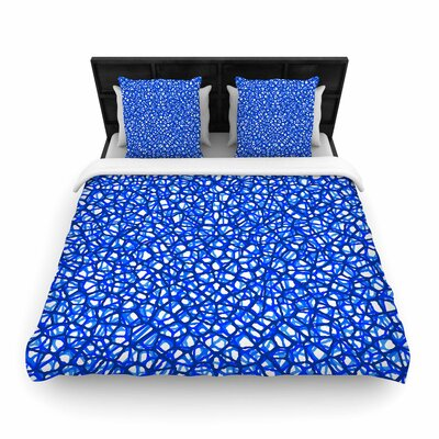 Trebam Staklo Digital Woven Duvet Cover Color: Blue, Size: Twin