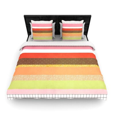 Strawberringo Mix Hodge Podge Woven Duvet Cover Size: Full/Queen