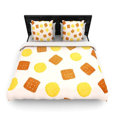 Strawberringo Do You Love Biscuits? Woven Duvet Cover Size: King