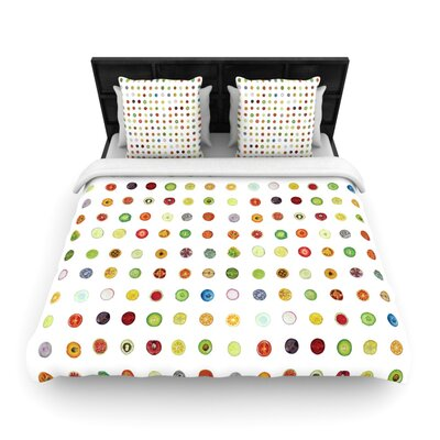 Theresa Giolzetti Fruit Pattern Food Painting Woven Duvet Cover Size: Full/Queen