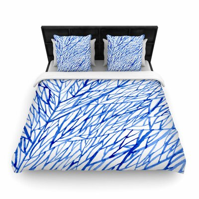 Strawberringo Branches Woven Duvet Cover Size: King