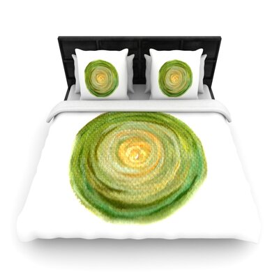 Theresa Giolzetti Leeks Woven Duvet Cover Size: Twin