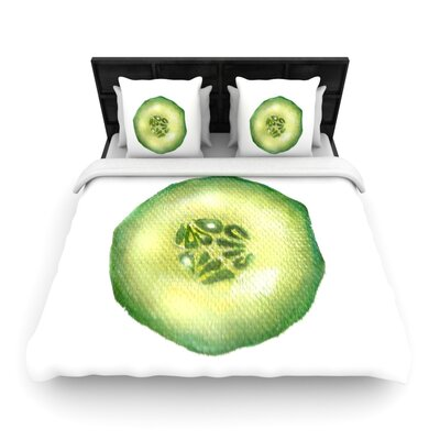 Theresa Giolzetti Cucumber Woven Duvet Cover Size: Twin