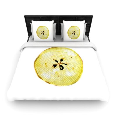 Theresa Giolzetti Apples Woven Duvet Cover Size: King