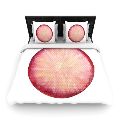 Theresa Giolzetti Radish Woven Duvet Cover Size: Full/Queen