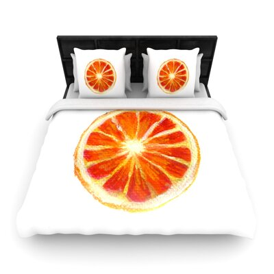 Theresa Giolzetti Grapefruit Woven Duvet Cover Size: Full/Queen