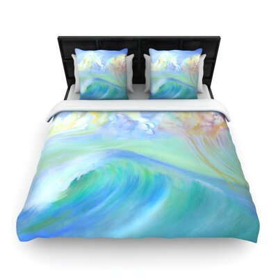 Theresa Giolzetti Jelly Fish Woven Duvet Cover Size: King