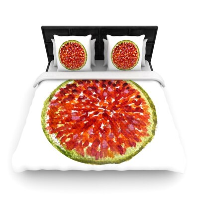 Theresa Giolzetti Passion Fruit Woven Duvet Cover Size: King