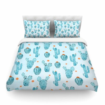 Strawberringo Cactus Pattern Featherweight Duvet Cover Size: Twin