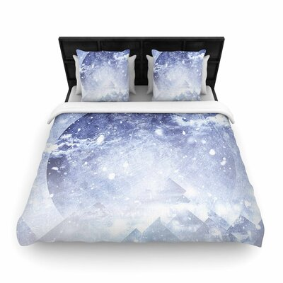 Ulf Harstedt Even Mountains Get Cold Woven Duvet Cover Size: Twin
