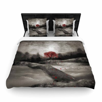 Viviana Gonzalez the Sounds and Poems 1 Tree Woven Duvet Cover Size: Full/Queen