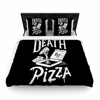 Tatak Waskitho Death by Pizza Food Woven Duvet Cover Size: Full/Queen