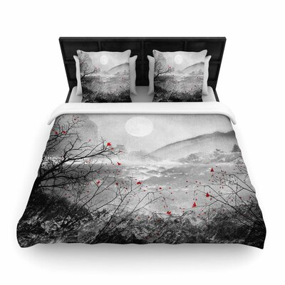 Viviana Gonzalez the Sounds and Poems, Chap Woven Duvet Cover Size: King