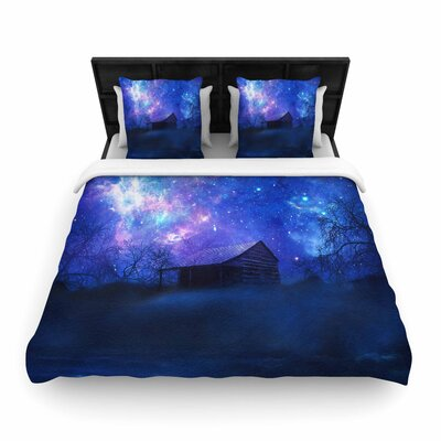 Viviana Gonzalez Beginning Galaxy Woven Duvet Cover Size: Twin