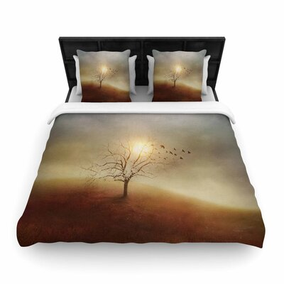 Viviana Gonzalez Lone Tree Love I Woven Duvet Cover Size: King