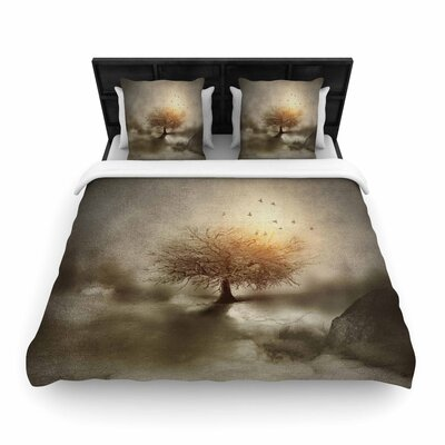 Viviana Gonzalez Lone Tree Love IV Nature Woven Duvet Cover Size: King
