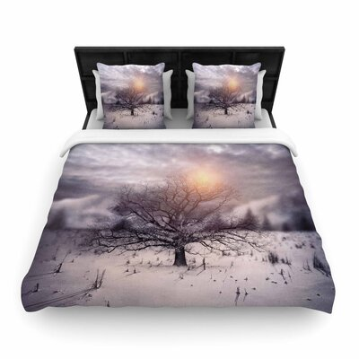 Viviana Gonzalez Lone Tree Love II Woven Duvet Cover Size: King
