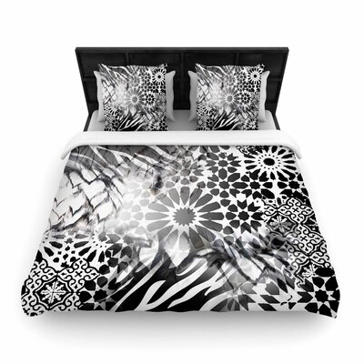 Victoria Krupp Out of Morocco Abstract Woven Duvet Cover Size: Full/Queen
