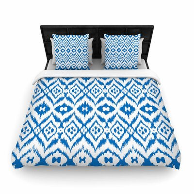 Victoria Krupp Vk_Ikat Tribal Woven Duvet Cover Size: Twin