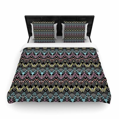 Victoria Krupp Tribal Zigzag Digital Woven Duvet Cover Size: Twin
