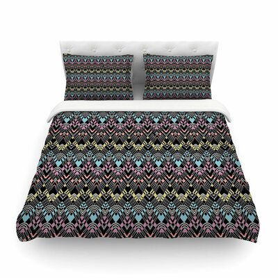 Victoria Krupp Tribal Zigzag Digital Featherweight Duvet Cover Size: King