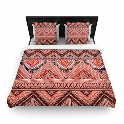 Victoria Krupp Native American Art Illustration Woven Duvet Cover Size: Full/Queen