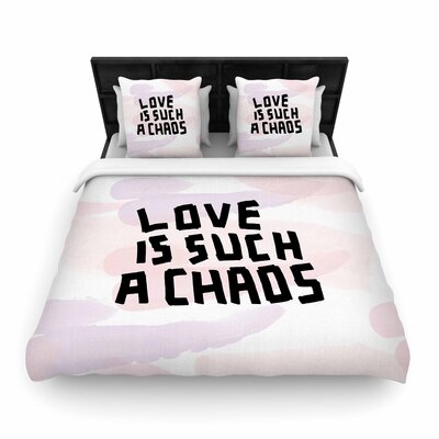Vasare Nar Love Is Such a Chaos Woven Duvet Cover Size: King