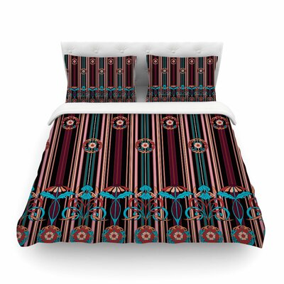 Victoria Krupp Nouveau Illustration Featherweight Duvet Cover Size: Twin