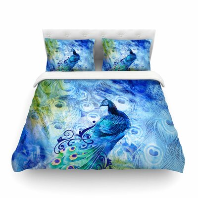 Victoria Krupp Peacock Digital Featherweight Duvet Cover Size: Twin