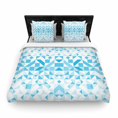 Vasare Nar Geometric Digital Woven Duvet Cover Size: Twin
