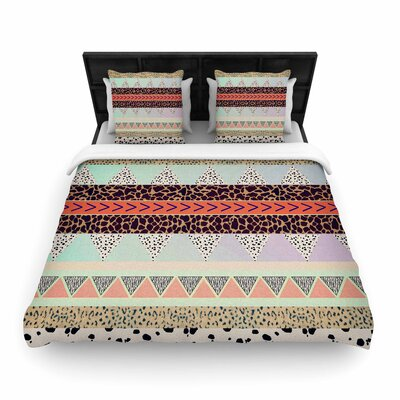 Vasare Nar Animal Print Tribal Woven Duvet Cover Size: Twin