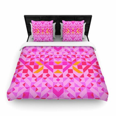 Vasare Nar Candy Geometric Geometric Woven Duvet Cover Size: Full/Queen