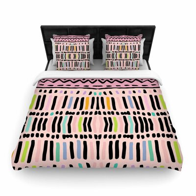Vasare Nar Native Pastel Woven Duvet Cover Size: King