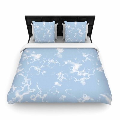 Vasare Nar Marble Clouds Woven Duvet Cover Size: King