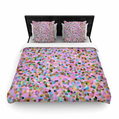 Vasare Nar Candy Confetti Abstract Woven Duvet Cover Size: Full/Queen