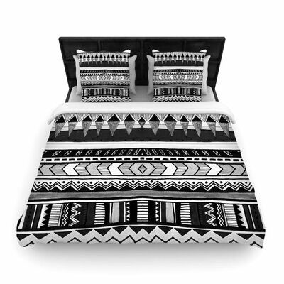 Vasare Nar Tribal and Geometric Woven Duvet Cover Size: King
