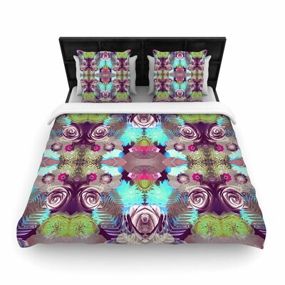 Vasare Nar Kaleidoscopic Boho Woven Duvet Cover Size: Full/Queen