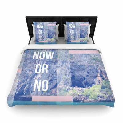 Vasare Nar Now or No Mixed Media Woven Duvet Cover Size: Twin