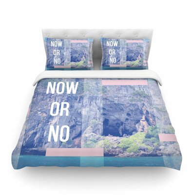 Vasare Nar Now or No Mixed Media Featherweight Duvet Cover Size: King