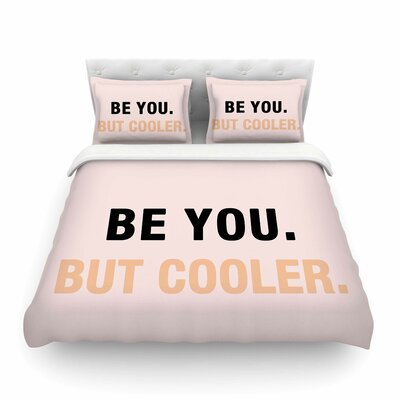 Vasare Nar Be You But Cooler Digital Featherweight Duvet Cover Size: King