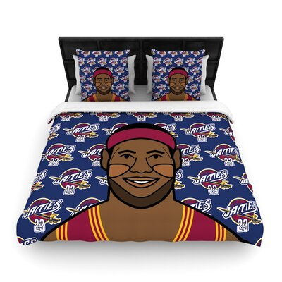 Will Wild Lebron James Basketball Woven Duvet Cover Size: King