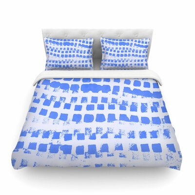 Vasare Nar Azure Squares Illustration Featherweight Duvet Cover Size: King