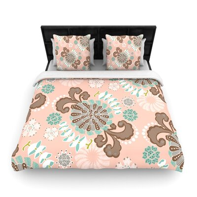 Very Sarie Sea Carnival Woven Duvet Cover Size: King