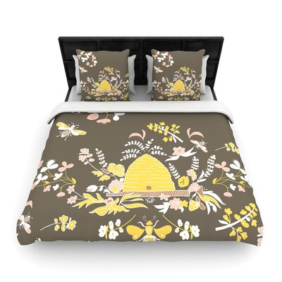 Very Sarie Hope for the Flowers II Woven Duvet Cover Size: King