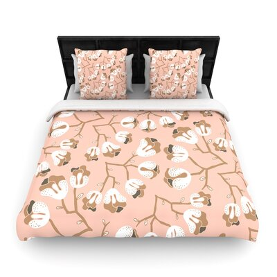 Very Sarie Hope for the Flowers III Woven Duvet Cover Size: King