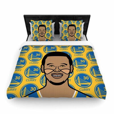Will Wild Steph Curry Sports Woven Duvet Cover Size: Full/Queen