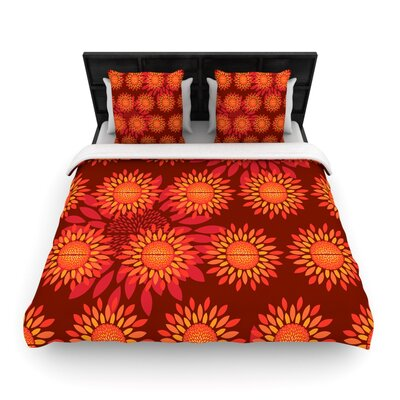 Yenty Jap Sunflower Season Woven Duvet Cover Size: Full/Queen