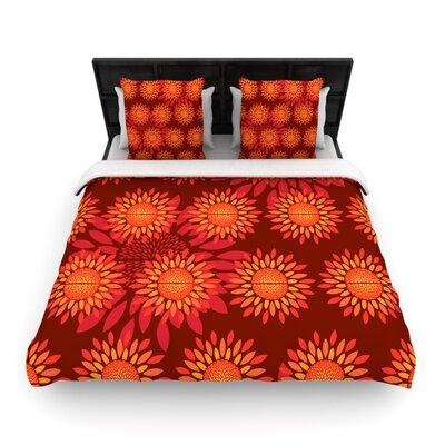 Yenty Jap Sunflower Season Woven Duvet Cover Size: King